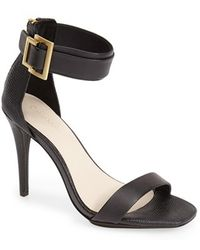 Calvin Klein Sable Leather and Suede Sandals black - Lyst