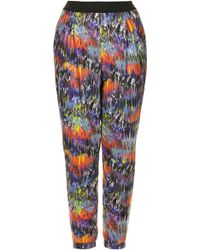 Topshop Paint Animal Jersey Tapered Trousers - Lyst