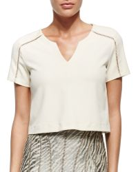 Nanette Lepore Cape Town Tee W Stitch Detail - Lyst