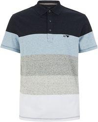 Armani Jeans Striped Jersey Polo Shirt - Lyst