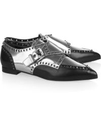 Sergio Rossi Monkstrap Mirroredleather Brogues - Lyst