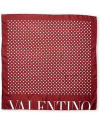 Valentino Pattern Silk Scarf - Lyst