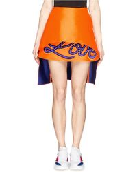 Fyodor Golan 'Love' Piped Embroidery Mini Skirt - Lyst