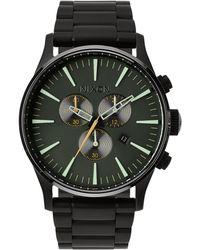 Nixon   Sentry Chronograph Watch   Lyst