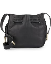 Halston Heritage | Leather Bucket Bag | Lyst