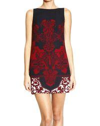 Versace Dress Sleeveless Silk Barocco Print - Lyst