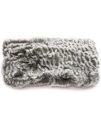 Eugenia Kim Kristi Fur Headband - Black - Lyst