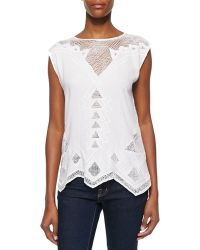 Golden by JPB   Paradise Netted Cotton Top   Lyst
