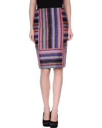 Rena Lange Knee Length Skirt - Lyst