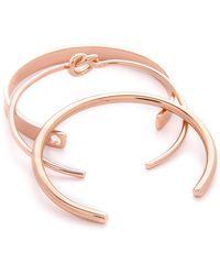 Kacey K - Kk Love Bracelet Set - Rose Gold - Lyst