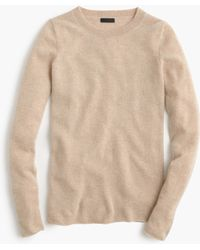 J.Crew Collection Cashmere Long-sleeve T-shirt beige - Lyst