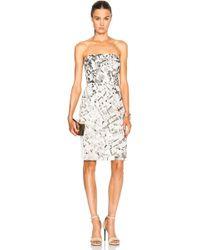 J. Mendel Strapless Embellished Dress - Lyst