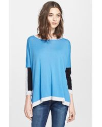 Autumn Cashmere Colorblock High/Low Cashmere Sweater - Lyst
