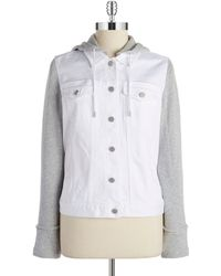 Two By Vince Camuto - Hooded Denim Jacket - Lyst