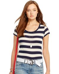 Polo Ralph Lauren Striped Cotton Tee - Lyst