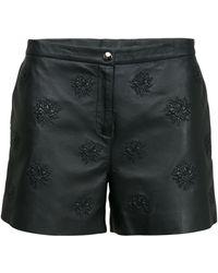 Lala Berlin Else Leather Shorts - Lyst