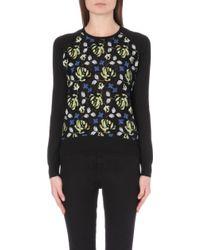 Erdem Floral Embroidered Knitted Sweatshirt - Lyst