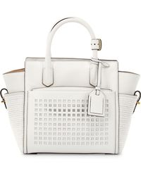 Reed Krakoff Perforated-Front Atlantique Mini Leather Tote Bag white - Lyst