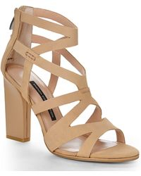 French Connection Sand Isla Sandals - Lyst