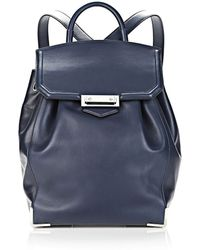 Alexander Wang Prisma Skeletal Backpack in Soft Neptune with Rhodium - Lyst