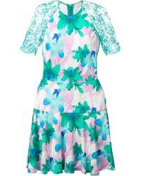 Matthew Williamson Green Flared Dress - Lyst