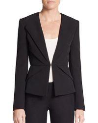 Versace Collarless Origami Jacket - Lyst