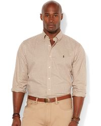 Polo Ralph Lauren Big and Tall Long Sleeve Check Twill Shirt - Lyst