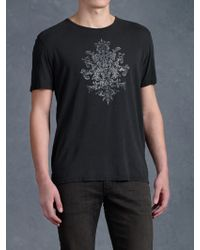 John Varvatos Abstract Pattern Graphic Tee - Lyst