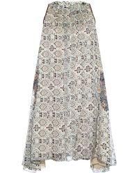 Isabel Marant Amaria Silk Dress gray - Lyst
