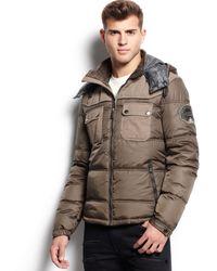 Guess Patch Puffy Jacket - Lyst