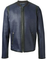 Dolce & Gabbana Blue Quilted Jacket - Lyst