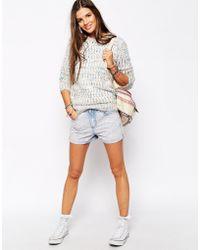 Bellfield - High Waist Denim Shorts - Lyst