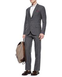 Brunello Cucinelli Pinstripe Two-Piece Wool Suit - Lyst
