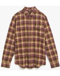 Obey 'Collins' Plaid Flannel Shirt - Lyst