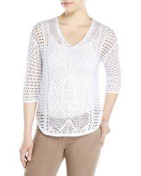 English Laundry - Open Knit Sweater - Lyst