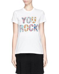 Markus Lupfer You Rock Sequin Kate Tshirt - Lyst