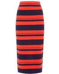 DKNY Striped Midi Tube Skirt - Lyst