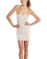 Shipley & Halmos Bronco Dress In Beige beige - Lyst