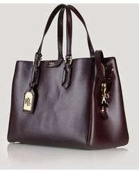 Ralph Lauren Lauren Satchel  Tate Center Zip - Lyst