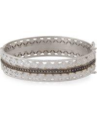 Armenta - Double Cravelli Huggie Bracelet With Diamonds - Lyst