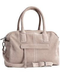 H&M Suede Bowling Bag - Lyst