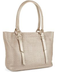 Cole Haan Bethany Woven Leather Tote - Lyst