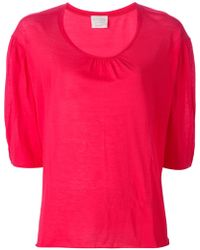Forte Forte Puff Sleeve Top - Lyst