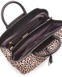 B Brian Atwood Gloria Small Calf Hair Tote Bag Pink Blush - Lyst