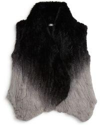 Moon & Meadow - Ombre Fur Vest - Lyst
