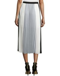 Laundry by Shelli Segal Pleated Colorblock Maxi Skirt - Lyst