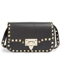Valentino Mini Rockstud Leather Cross-Body Bag - Lyst
