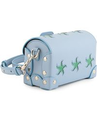 Holly Fulton - X Petek 1855 Blue & Green Small Wiggle Trunk Bag - Lyst