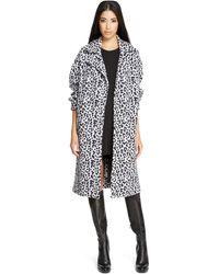 DKNY Printed Jacquard Coat - Lyst