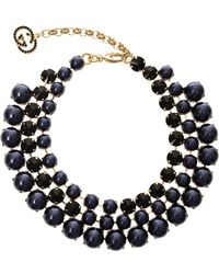 Gucci Crystal and Fauxpearl Tiered Necklace - Lyst